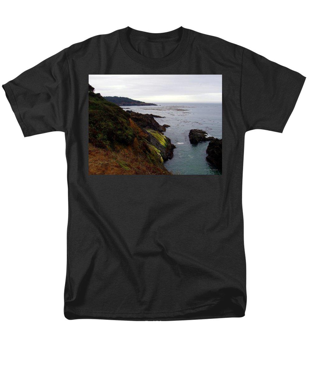 Seaside Men's T-Shirt (Regular Fit) featuring the photograph Seaside by Deborah Crew-Johnson