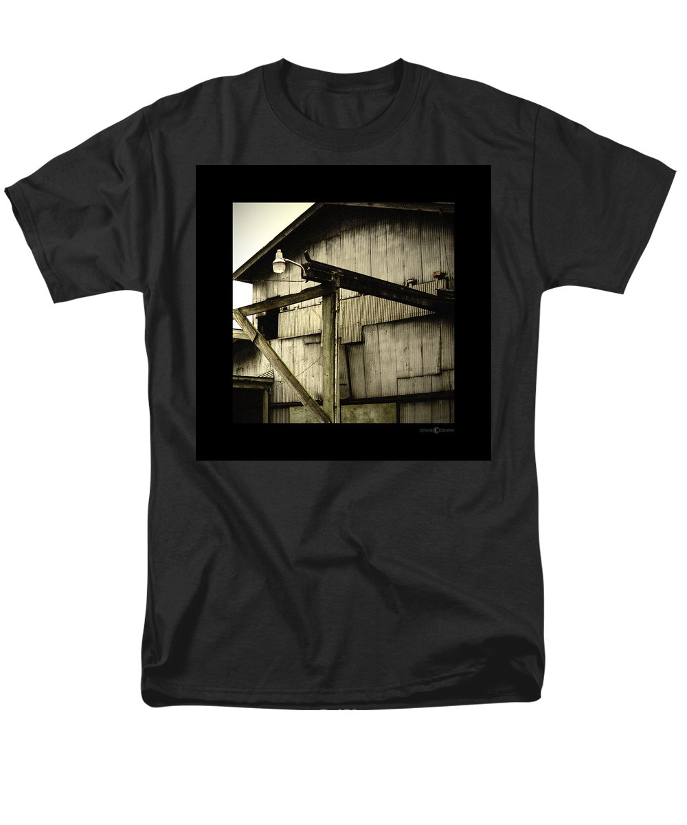Corrugated Men's T-Shirt (Regular Fit) featuring the photograph Security Light by Tim Nyberg