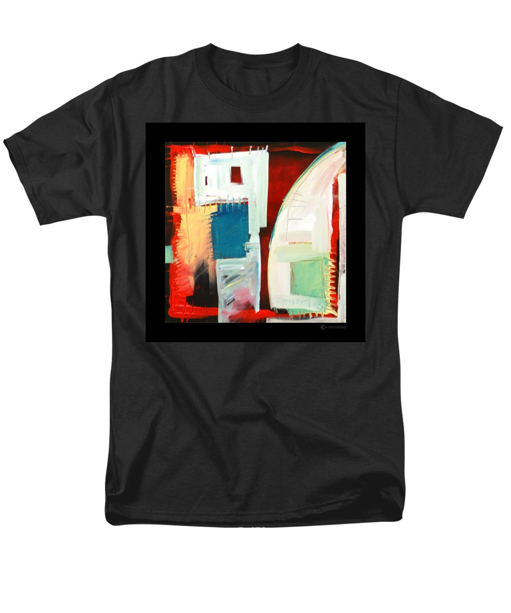Color Men's T-Shirt (Regular Fit) featuring the painting Smilin by Tim Nyberg