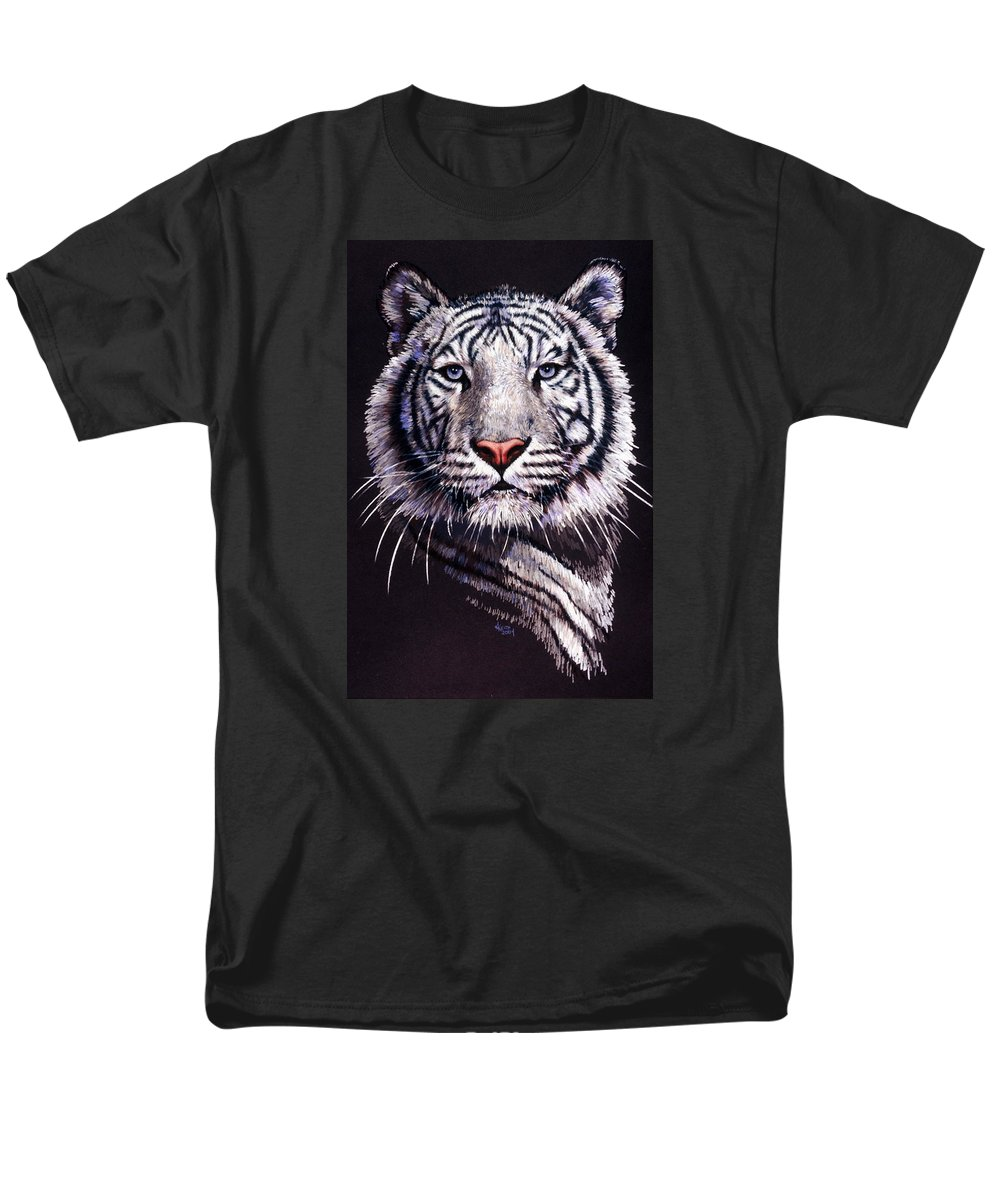 Tiger Men's T-Shirt (Regular Fit) featuring the drawing Sorcerer by Barbara Keith