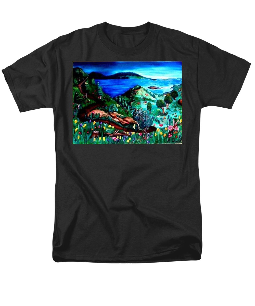 Landscape Men's T-Shirt (Regular Fit) featuring the painting Special Land by Andrew Johnson