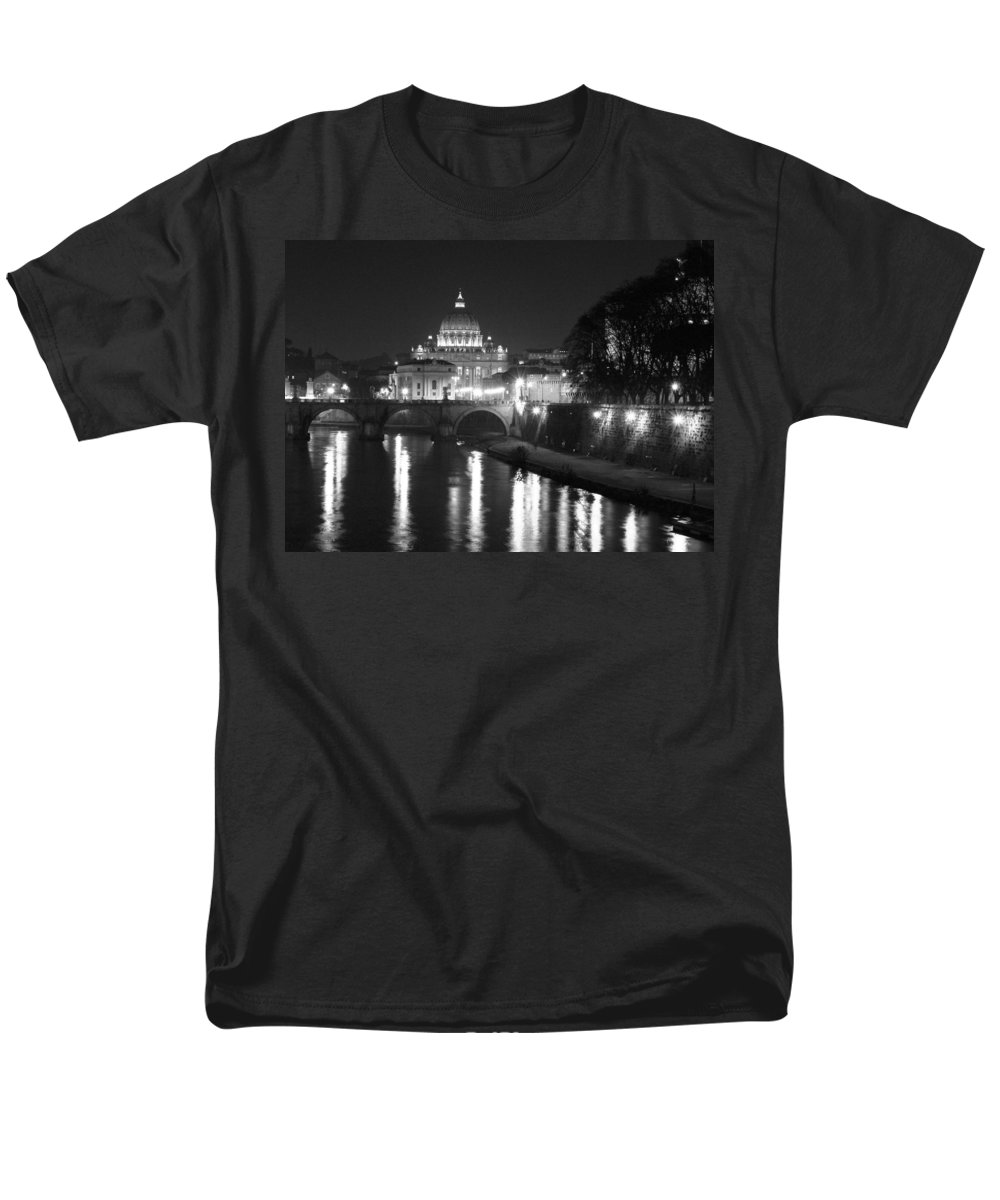 Italy Men's T-Shirt (Regular Fit) featuring the photograph St. Peters at Night by Donna Corless