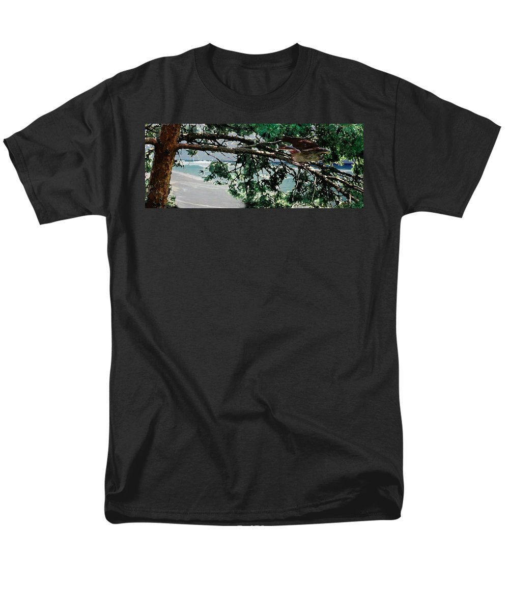 Landscape Men's T-Shirt (Regular Fit) featuring the painting Stealth by Steve Karol