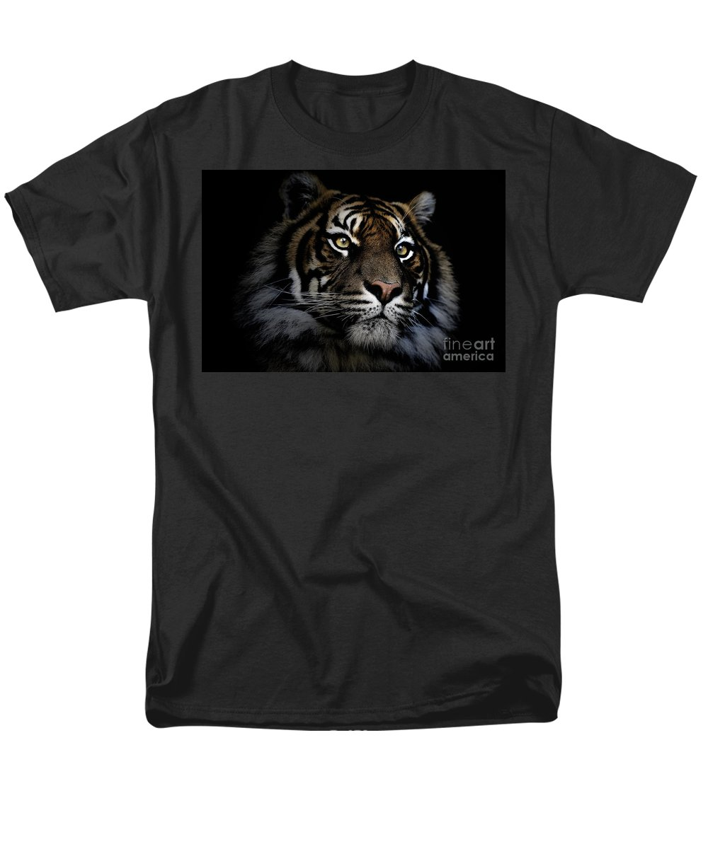 Sumatran Tiger Wildlife Endangered Men's T-Shirt (Regular Fit) featuring the photograph Sumatran Tiger by Avalon Fine Art Photography