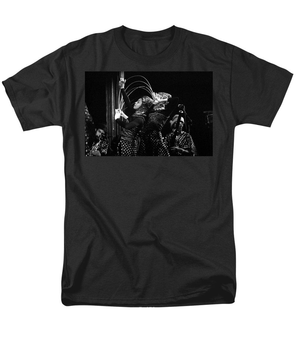 Sun Ra Men's T-Shirt (Regular Fit) featuring the photograph Sun Ra Arkestra and Dancers by Lee Santa