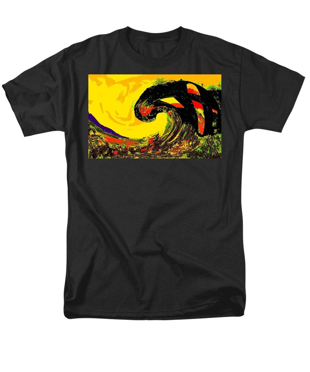 Abstract Men's T-Shirt (Regular Fit) featuring the photograph Swept Away by Ian MacDonald