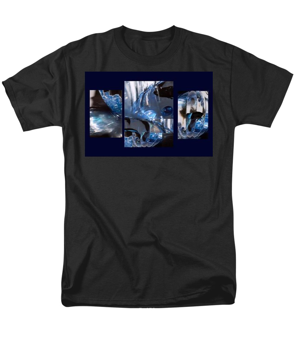 Abstract Of Betta In A Bowl Men's T-Shirt (Regular Fit) featuring the photograph Swirl by Steve Karol