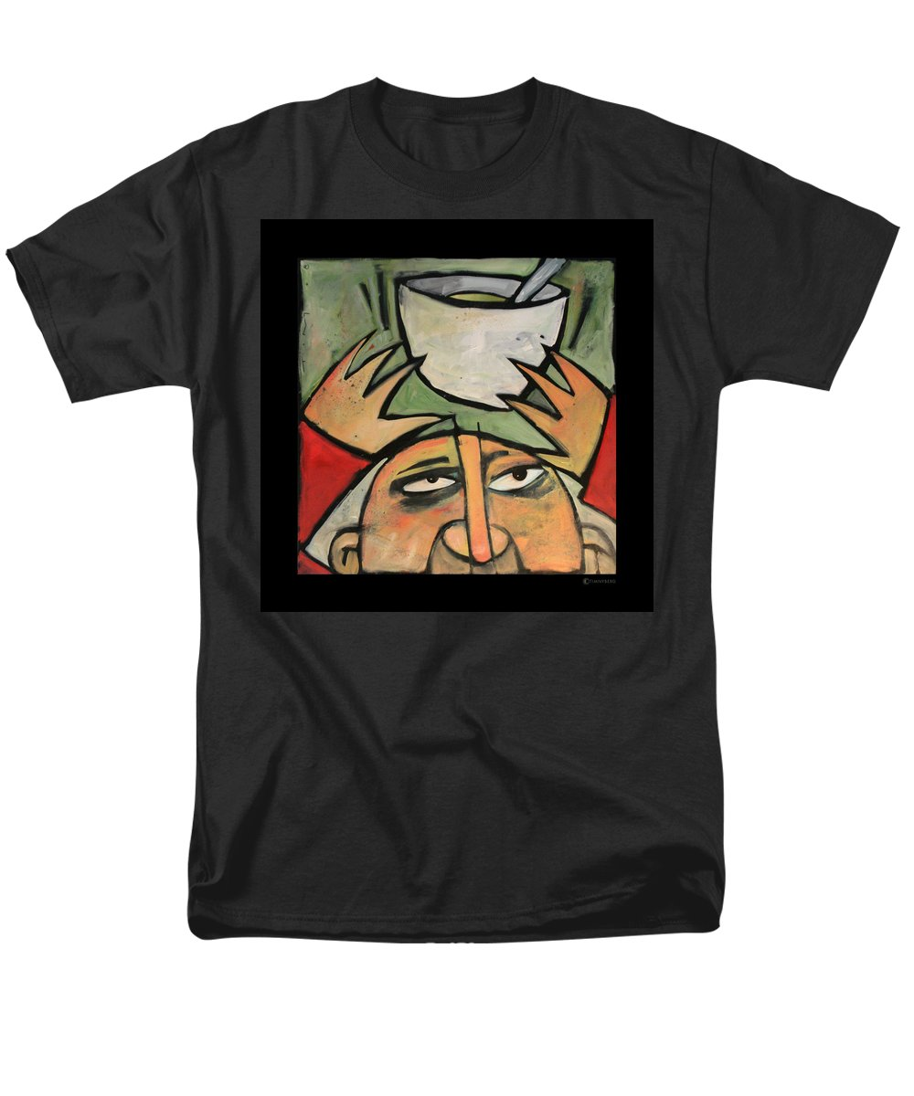 Humor Men's T-Shirt (Regular Fit) featuring the painting The Amazing Brad Soup Juggler by Tim Nyberg
