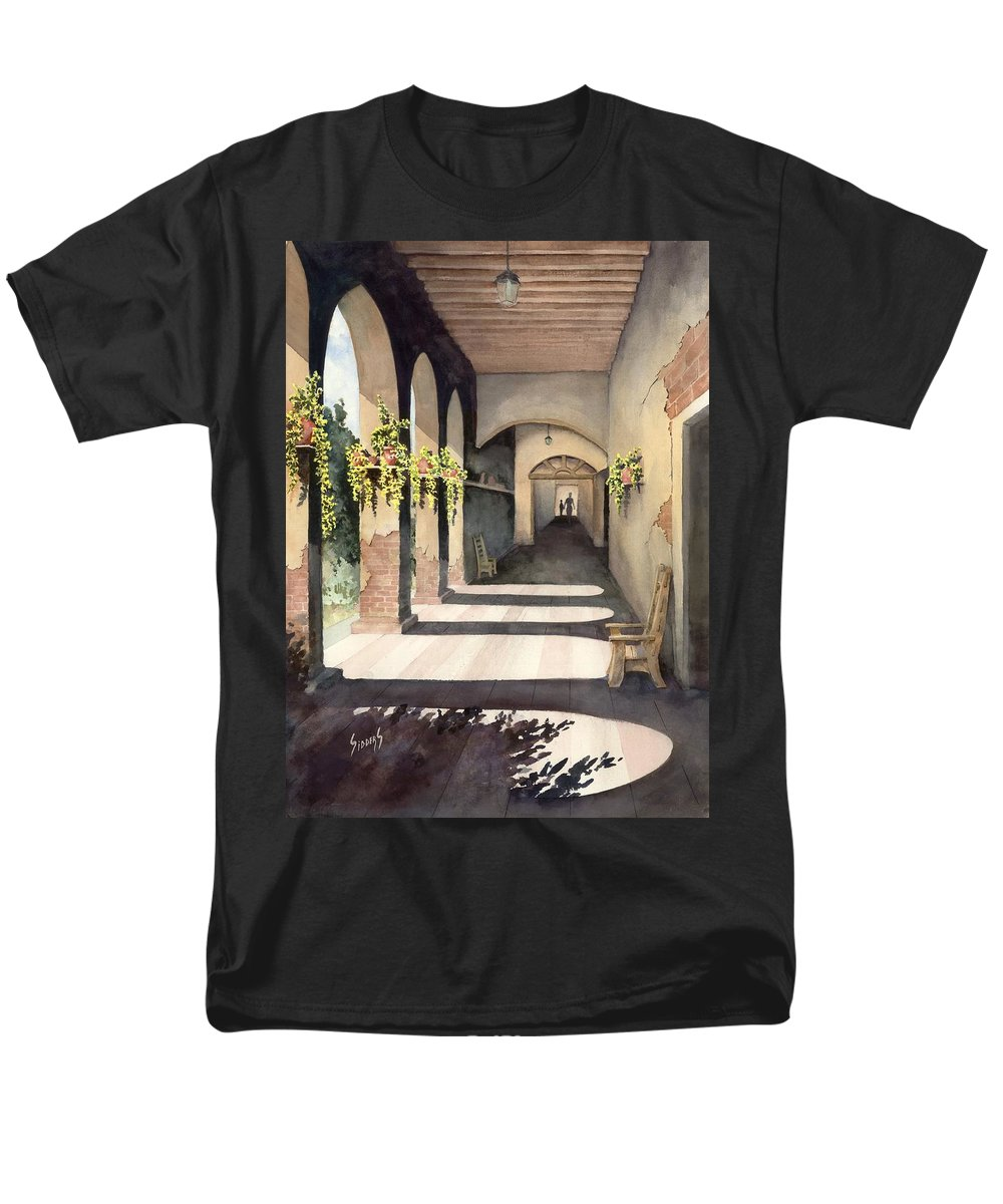 Plants Men's T-Shirt (Regular Fit) featuring the painting The Corridor 2 by Sam Sidders