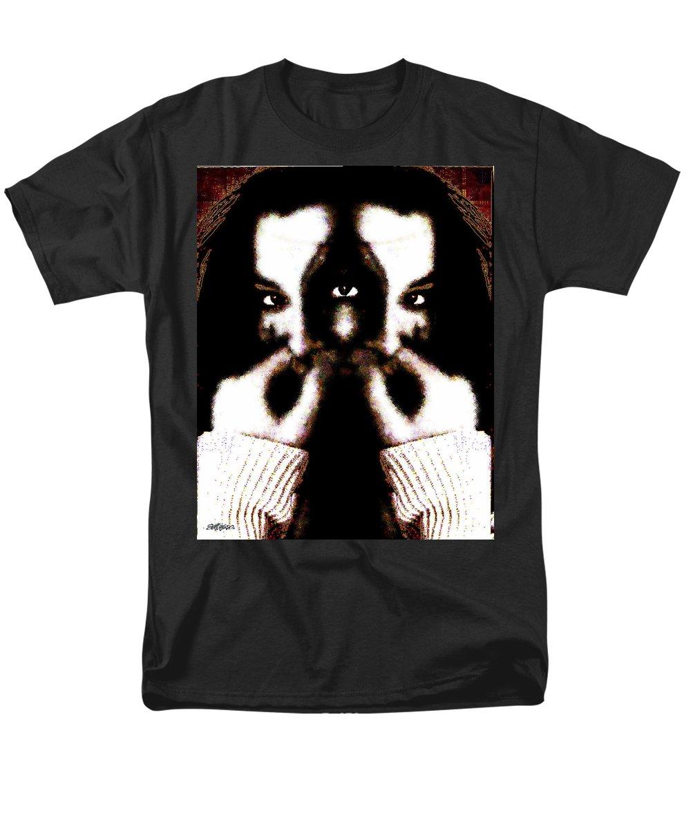 The Giggler Men's T-Shirt (Regular Fit) featuring the digital art The Giggler by Seth Weaver