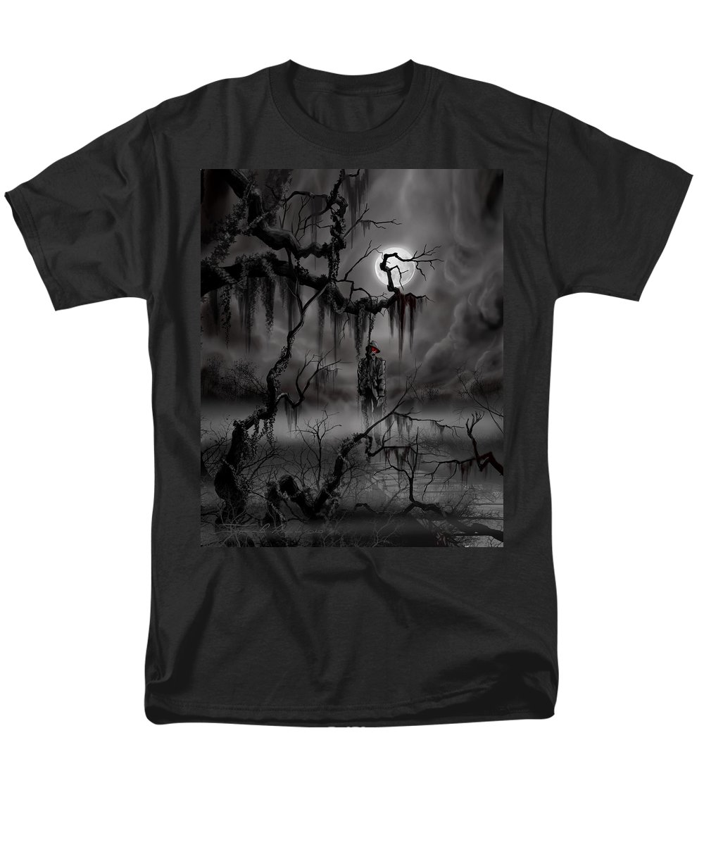 Nightmare Men's T-Shirt (Regular Fit) featuring the painting The Hangman by James Christopher Hill