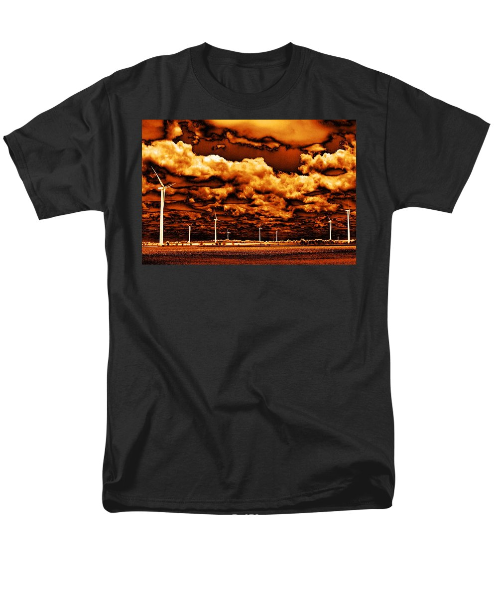 Sky Men's T-Shirt (Regular Fit) featuring the photograph The New Trees by Edward Smith