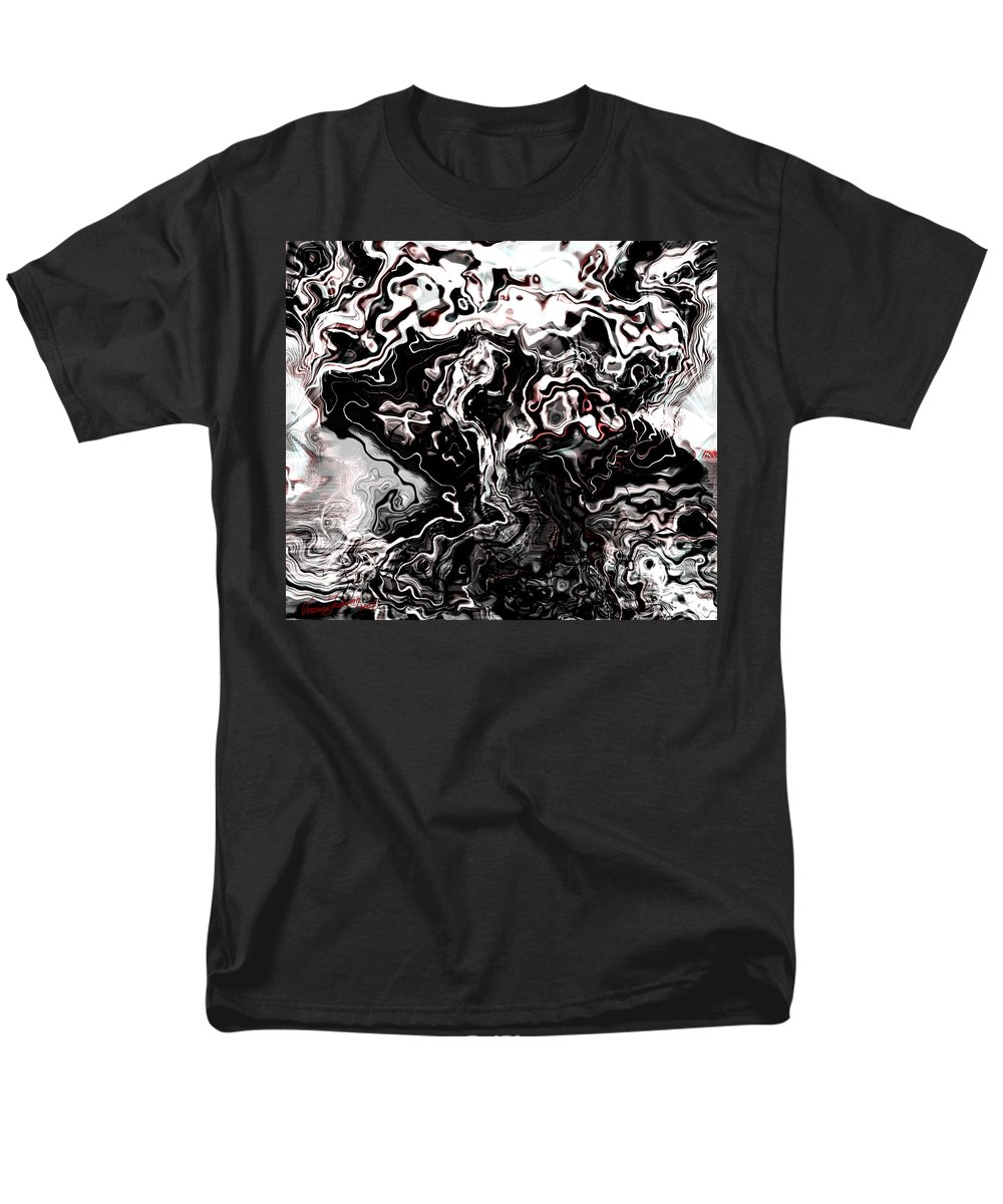 Storm Wind Clouds Nature Wind Men's T-Shirt (Regular Fit) featuring the digital art The Storm by Veronica Jackson