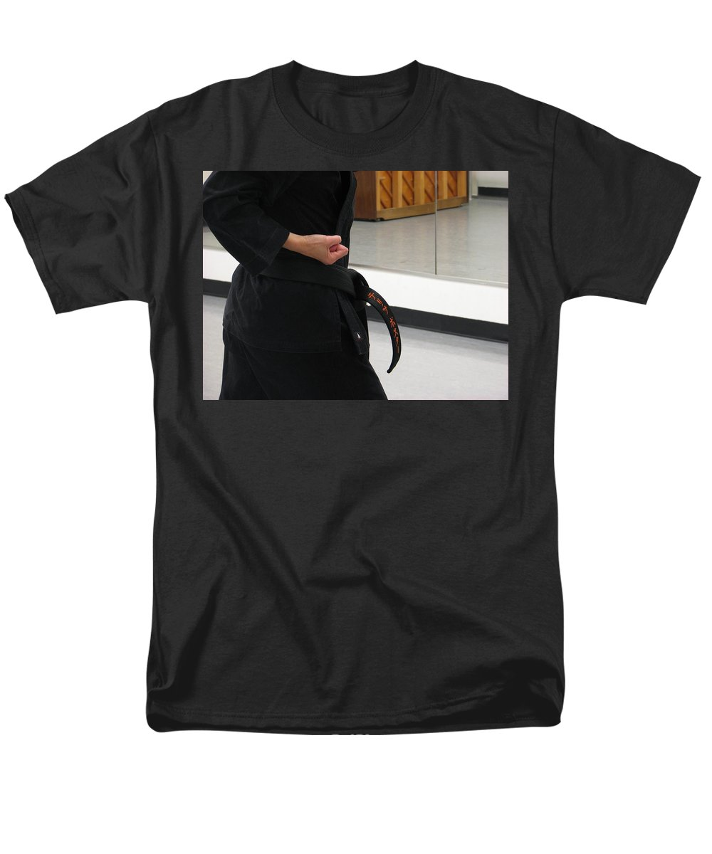 Karate Men's T-Shirt (Regular Fit) featuring the photograph Theresa by Kelly Mezzapelle