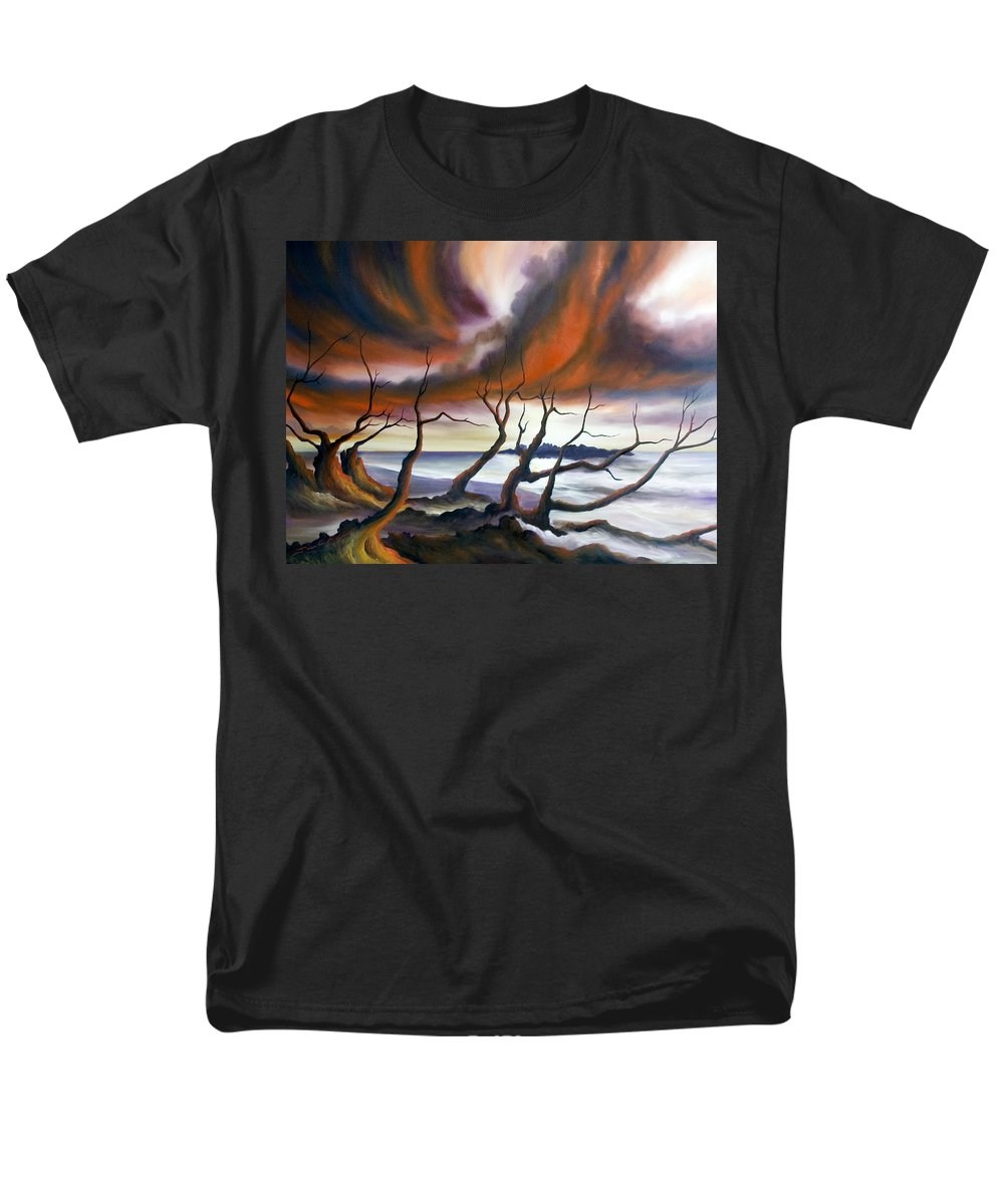 Marsh Men's T-Shirt (Regular Fit) featuring the painting Tideland by James Christopher Hill