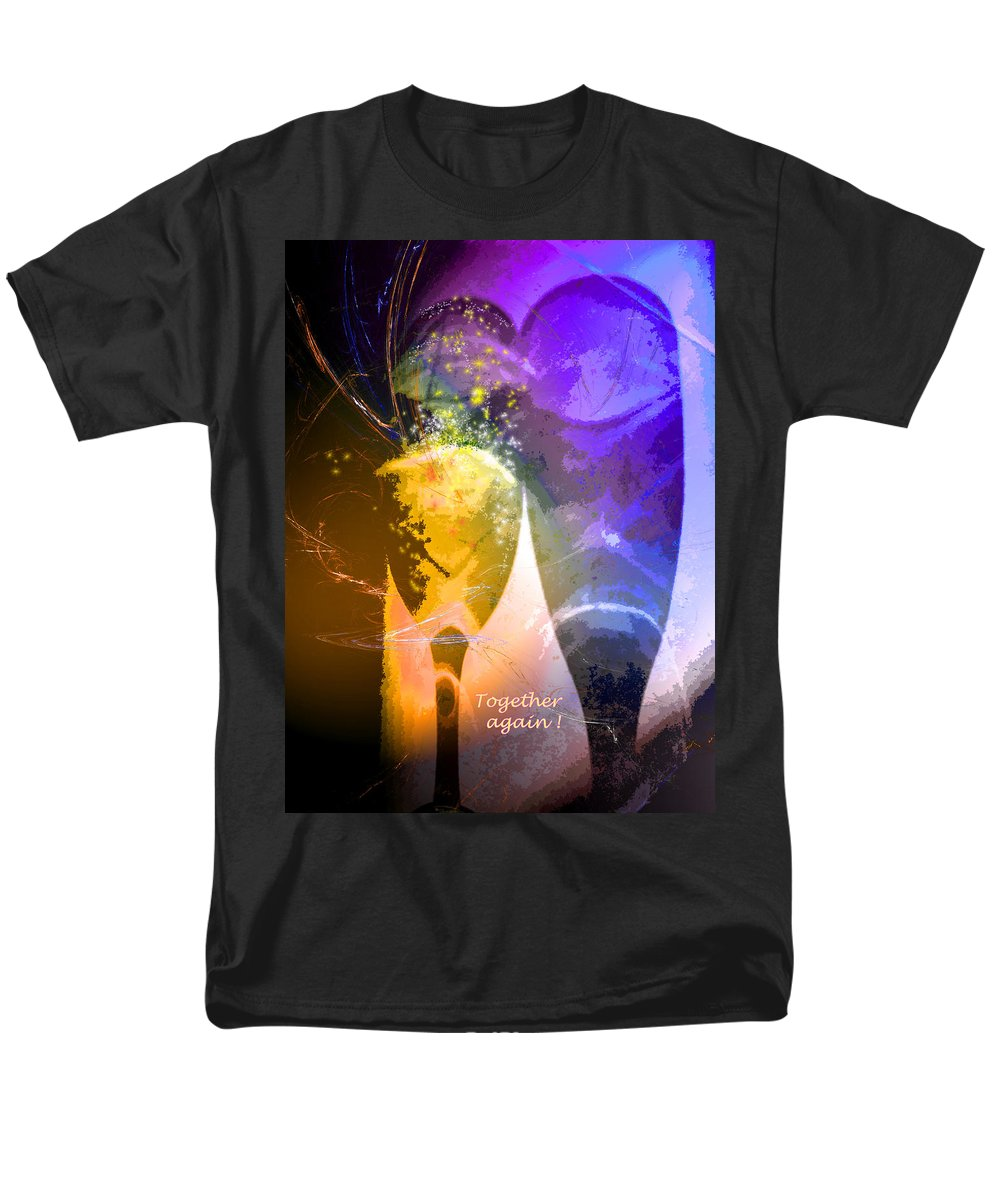 Fantasy Men's T-Shirt (Regular Fit) featuring the photograph Together again by Miki De Goodaboom