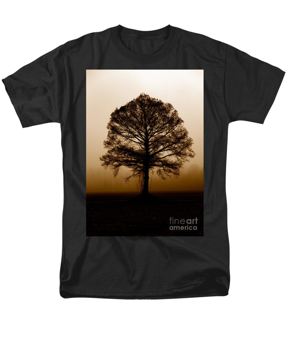 Trees Men's T-Shirt (Regular Fit) featuring the photograph Tree by Amanda Barcon
