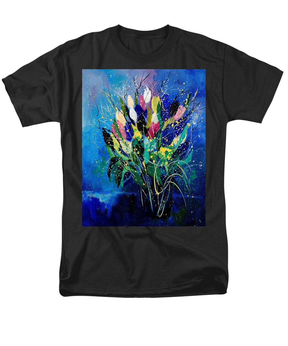 Flowers Men's T-Shirt (Regular Fit) featuring the painting Tulips 45 by Pol Ledent