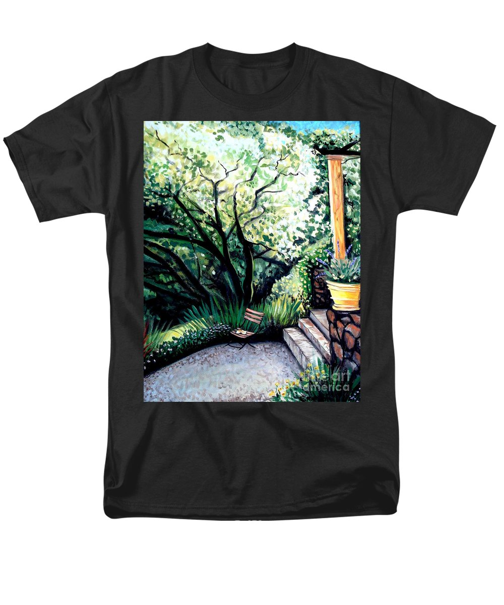 Tuscany Men's T-Shirt (Regular Fit) featuring the painting Tuscan Gold by Elizabeth Robinette Tyndall