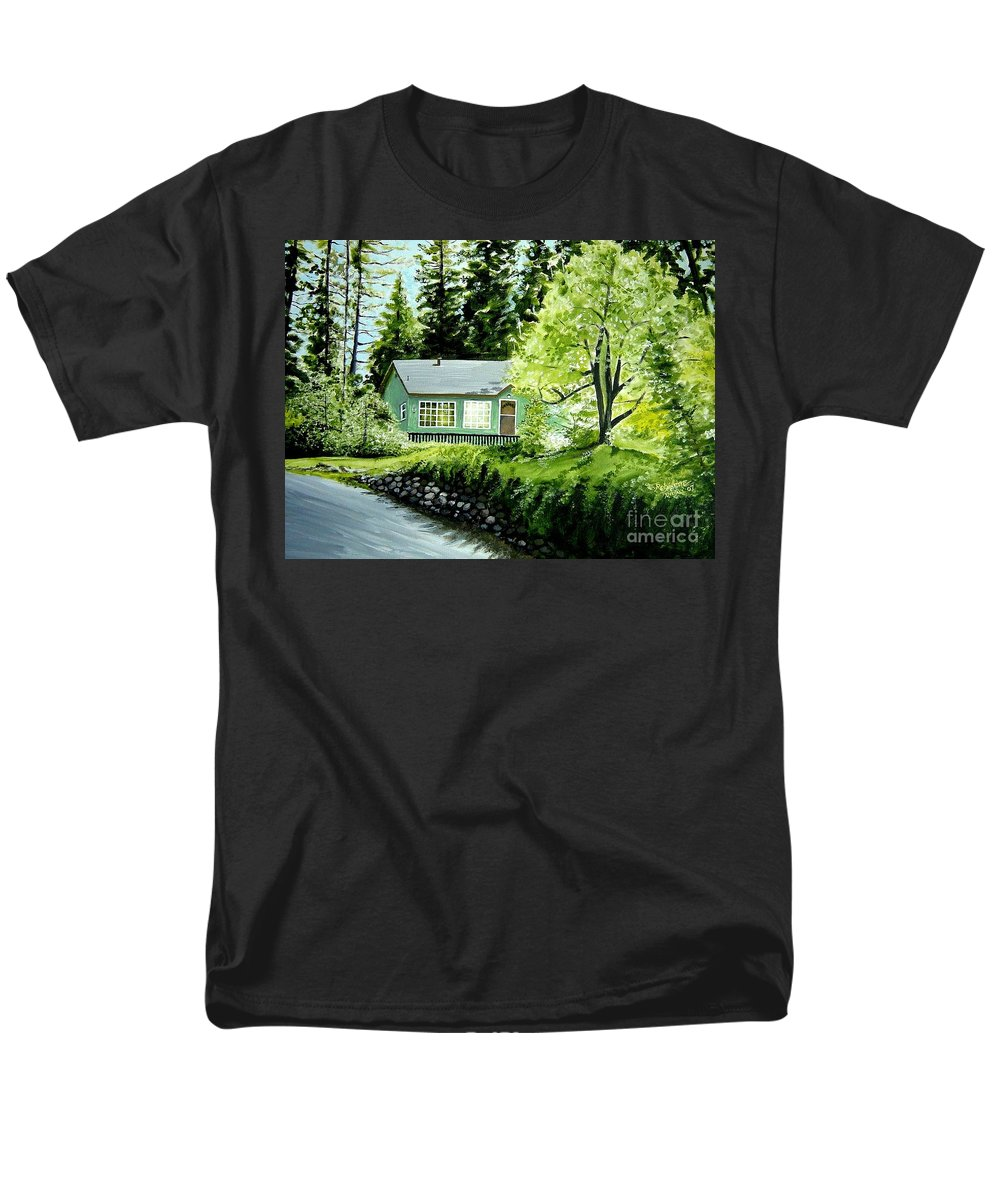 Landscape Men's T-Shirt (Regular Fit) featuring the painting Twaine Harte by Elizabeth Robinette Tyndall