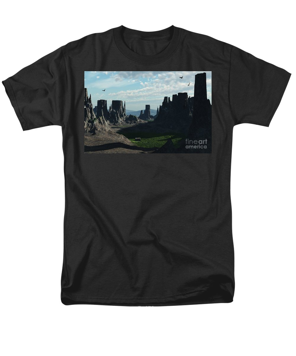 Valley Men's T-Shirt (Regular Fit) featuring the digital art Valley of the Kings by Richard Rizzo