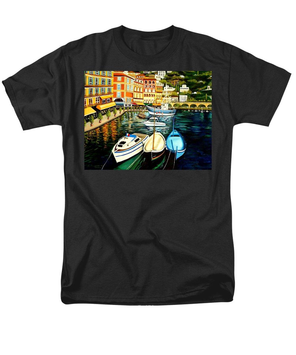 Landscape Men's T-Shirt (Regular Fit) featuring the painting Villa Franche by Elizabeth Robinette Tyndall