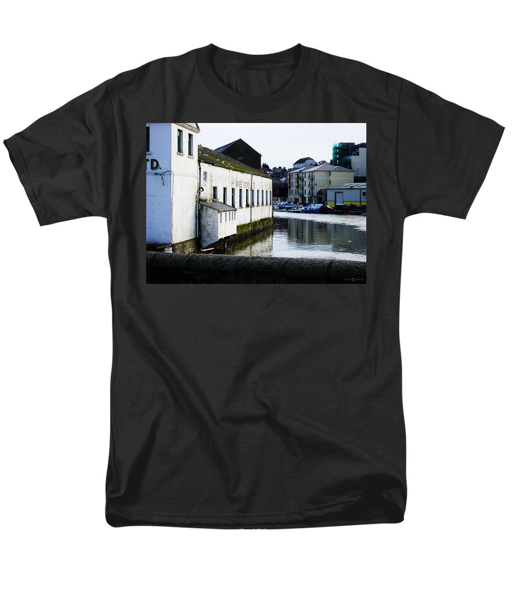 River Men's T-Shirt (Regular Fit) featuring the photograph Waterfront Factory by Tim Nyberg