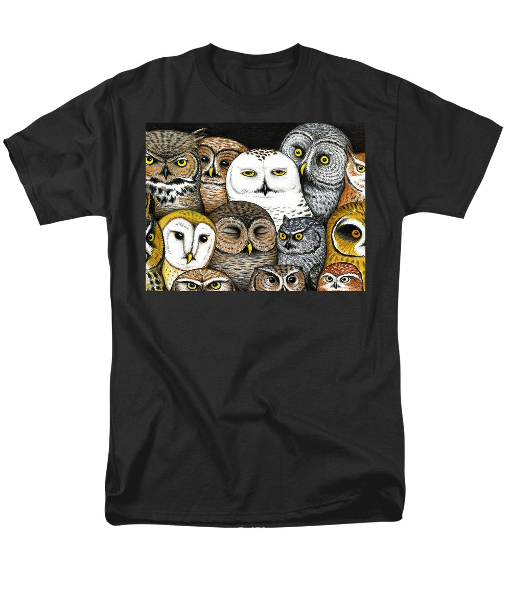 Art Men's T-Shirt (Regular Fit) featuring the painting Who's Hoo by Don McMahon