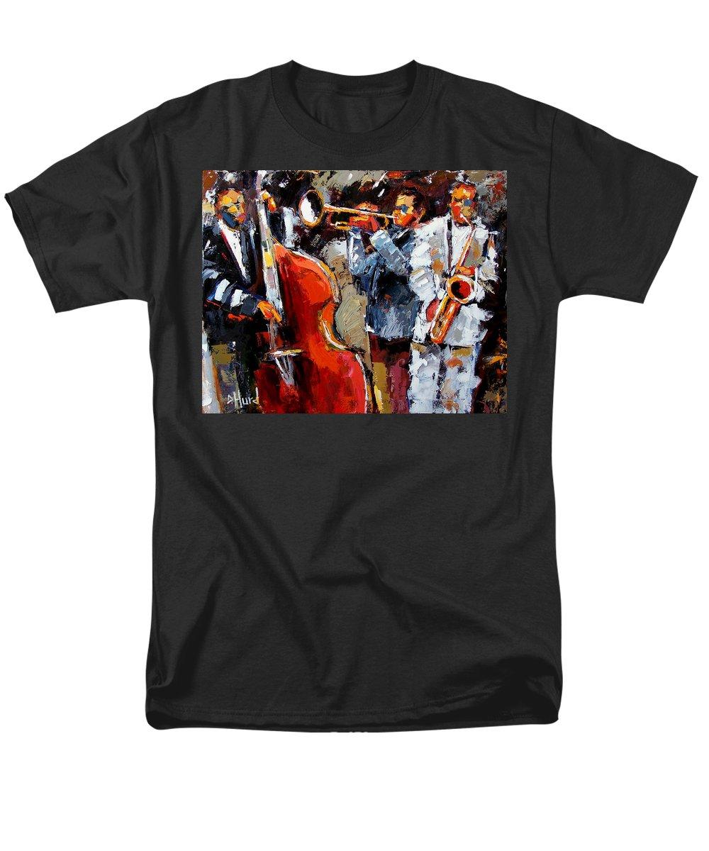 Jazz Men's T-Shirt (Regular Fit) featuring the painting Wild Jazz by Debra Hurd