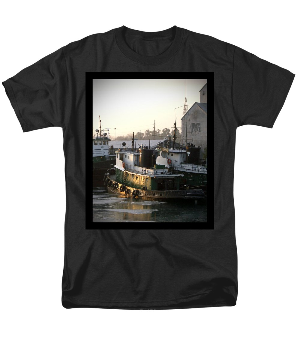 Tugs Men's T-Shirt (Regular Fit) featuring the photograph Winter Tugs by Tim Nyberg