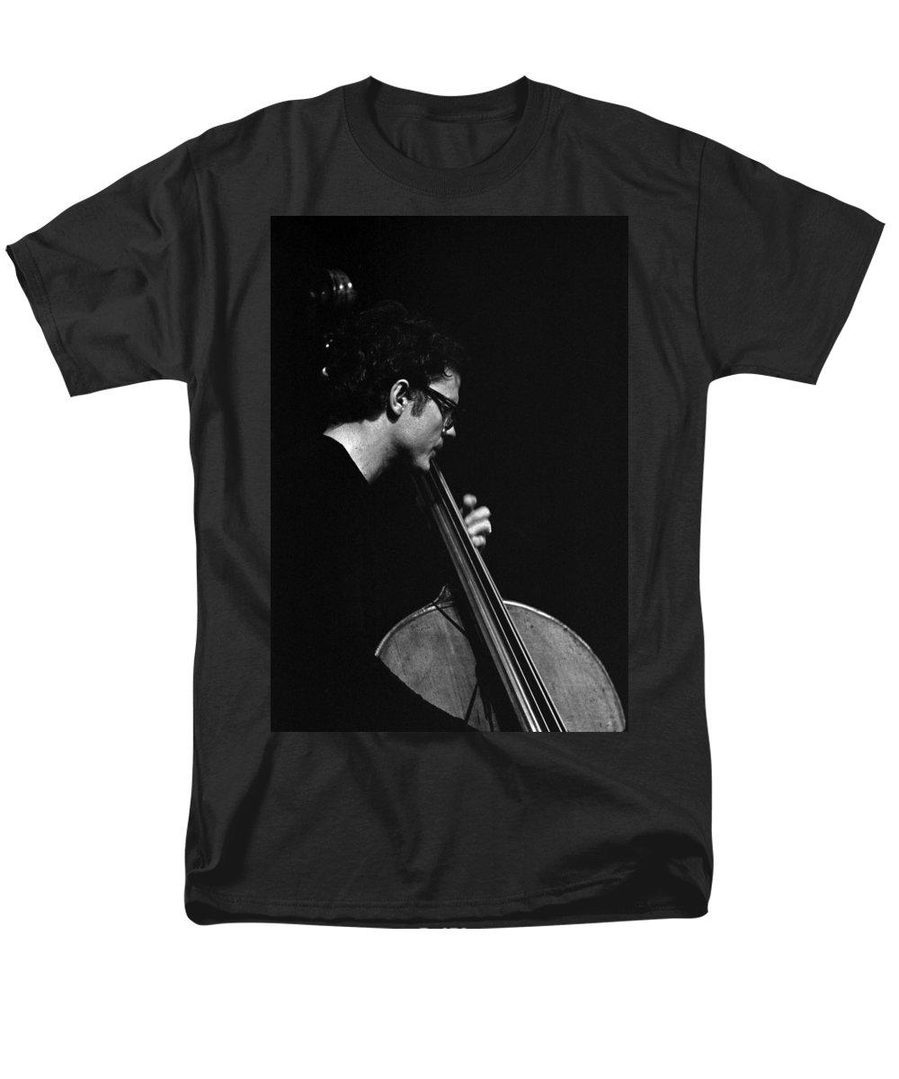 Charlie Haden Men's T-Shirt (Regular Fit) featuring the photograph Charlie Haden by Lee Santa