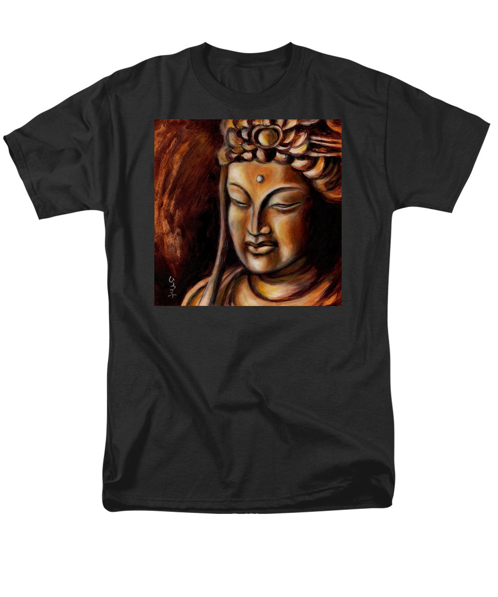 Zen Men's T-Shirt (Regular Fit) featuring the painting Face of Mercy No.2 by Hiroko Sakai