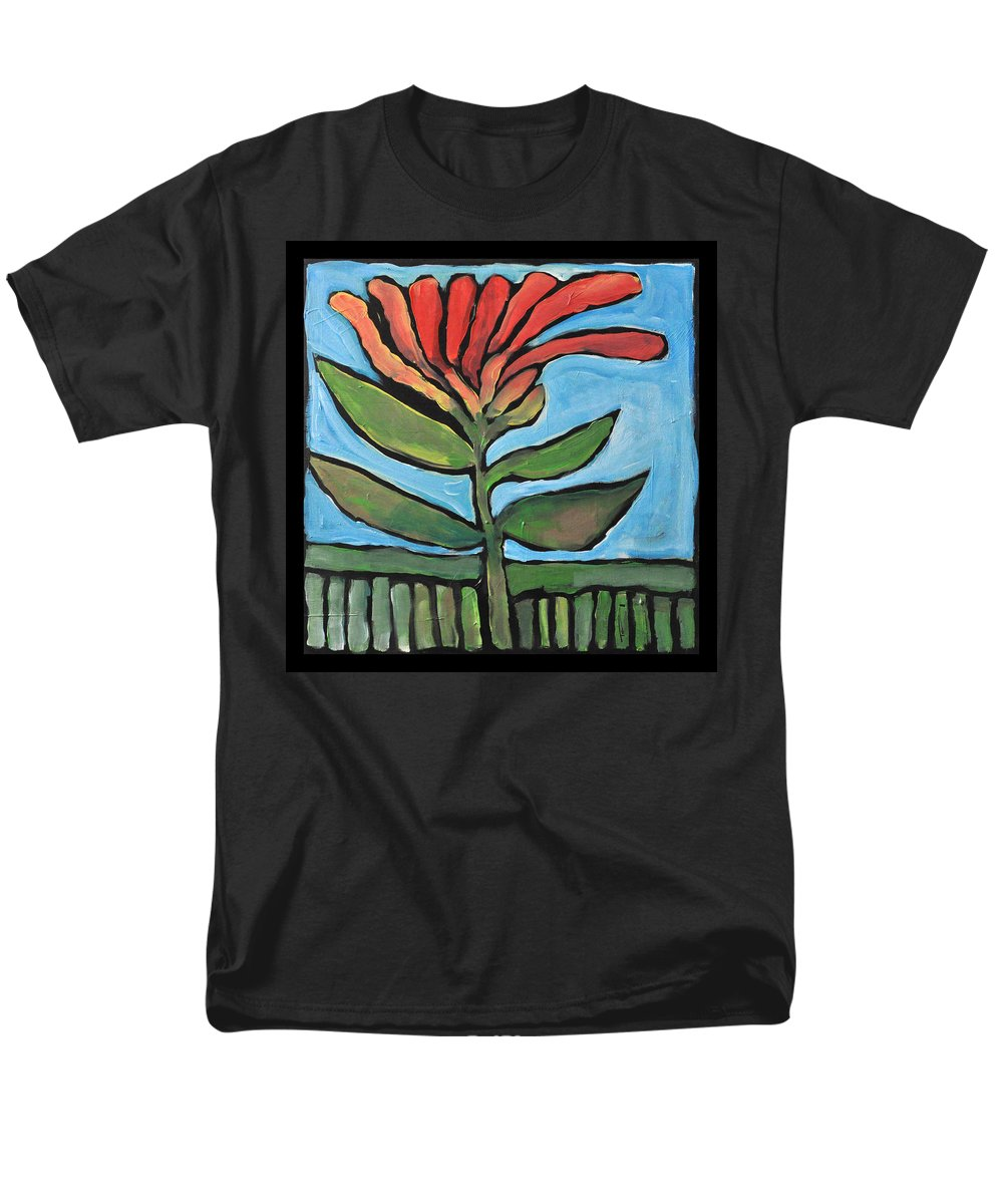 Flower Men's T-Shirt (Regular Fit) featuring the painting Flower by Tim Nyberg