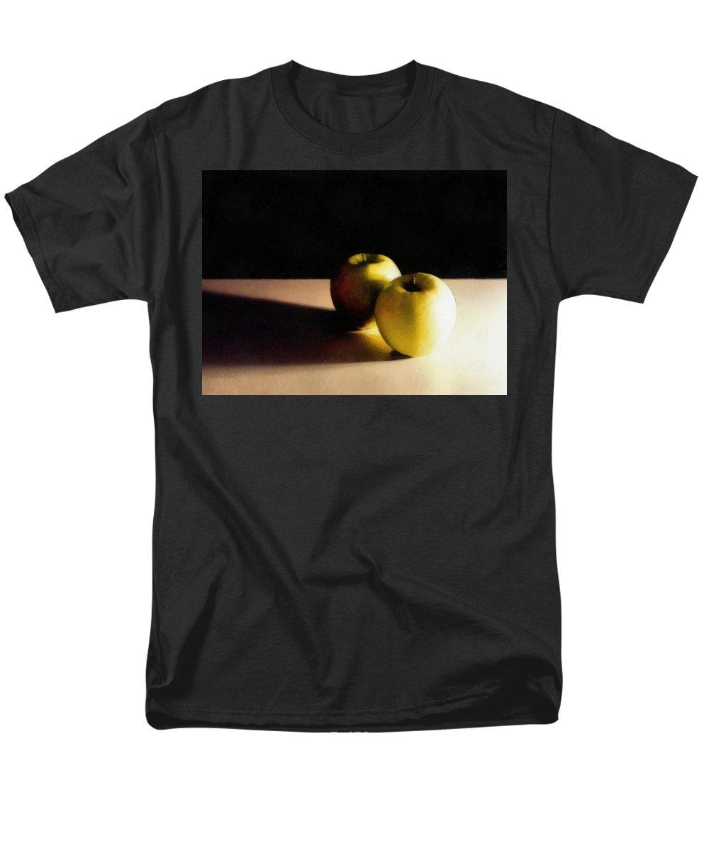 Apple Men's T-Shirt (Regular Fit) featuring the photograph Green Apples Still Life by Michelle Calkins
