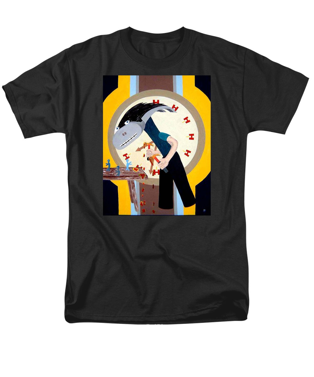 Expressionism Men's T-Shirt (Regular Fit) featuring the painting Hammer Time by Dean Stephens