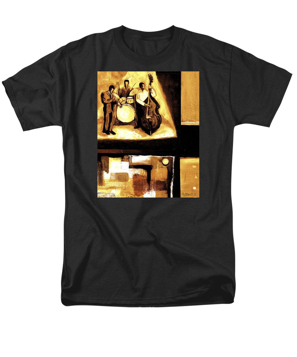 Everett Spruill Men's T-Shirt (Regular Fit) featuring the painting Modern Jazz Number Two by Everett Spruill
