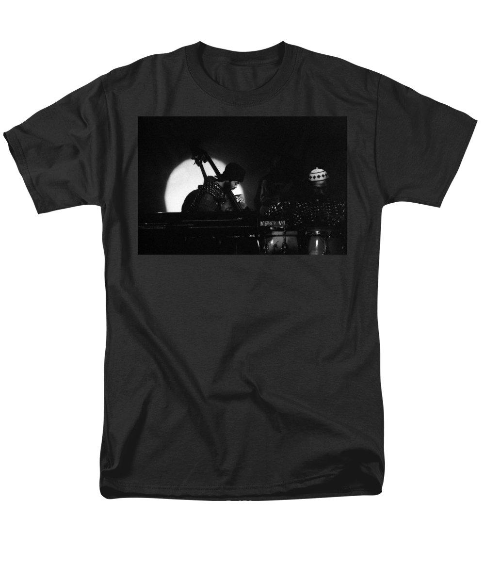 Sun Ra Men's T-Shirt (Regular Fit) featuring the photograph Radu - Sun Ra Arkestra Bassist by Lee Santa
