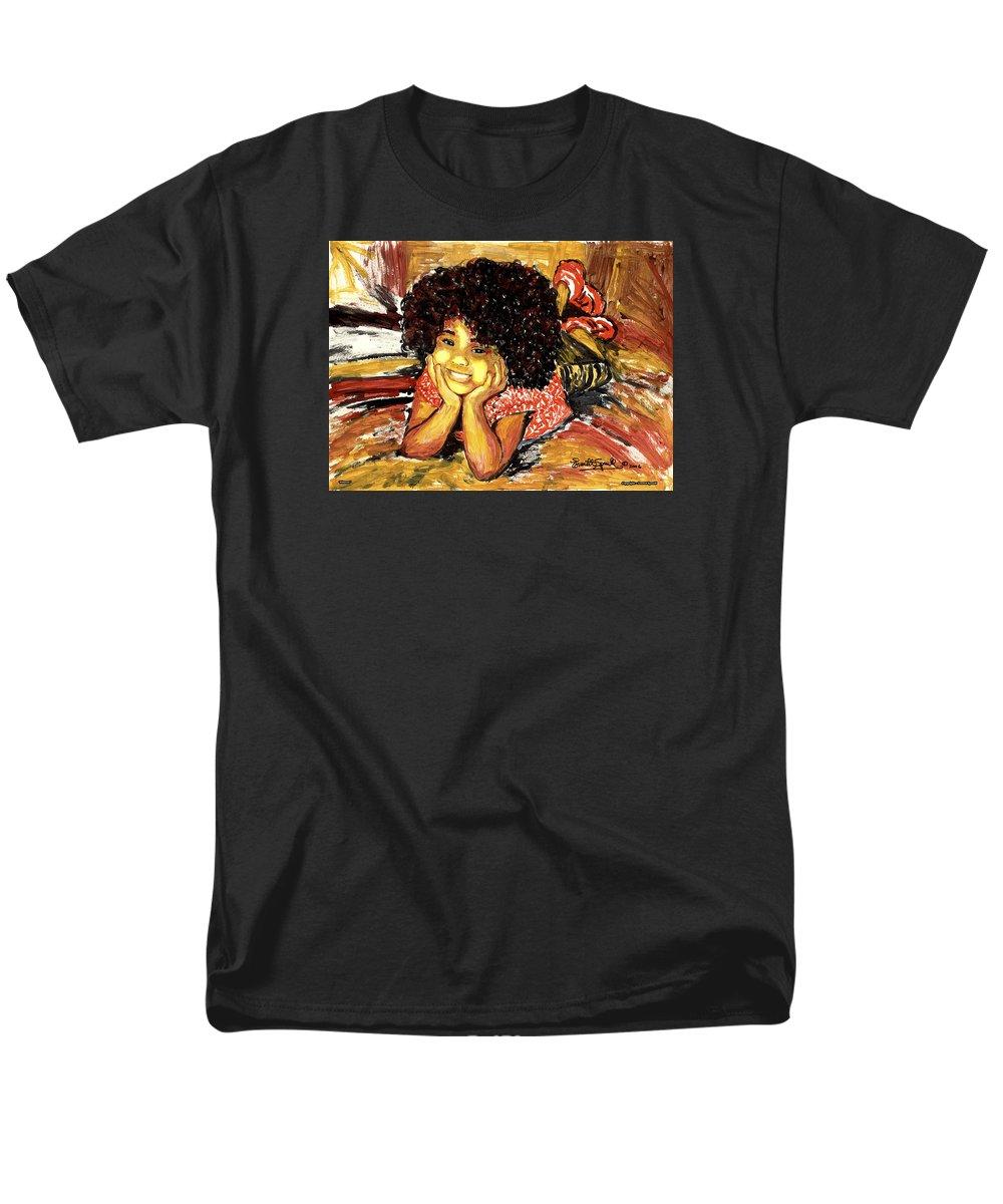 Everett Spruill Men's T-Shirt (Regular Fit) featuring the painting Simone by Everett Spruill