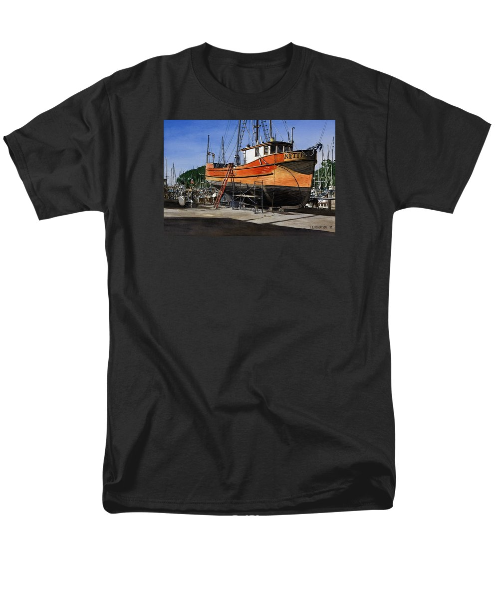 Boat Men's T-Shirt (Regular Fit) featuring the painting The Jeanette by James Robertson