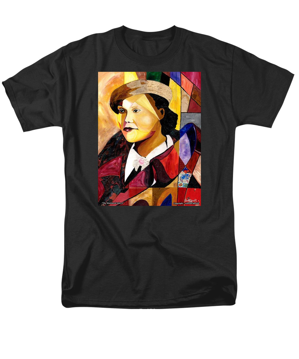 Everett Spruill Men's T-Shirt (Regular Fit) featuring the painting The Matriarch take 3 by Everett Spruill