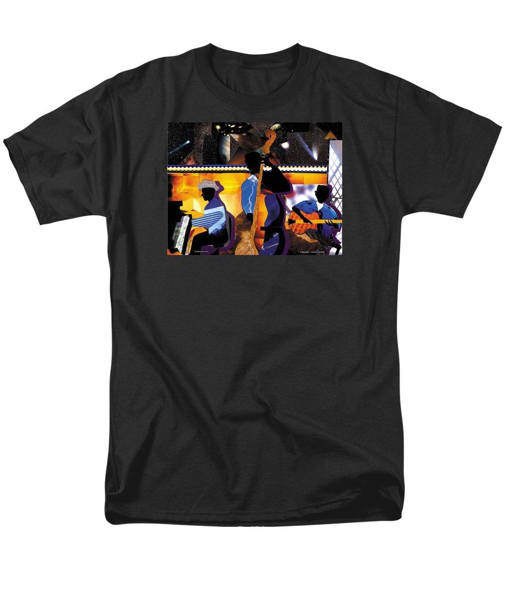 Everett Spruill Men's T-Shirt (Regular Fit) featuring the painting Universal Trio by Everett Spruill