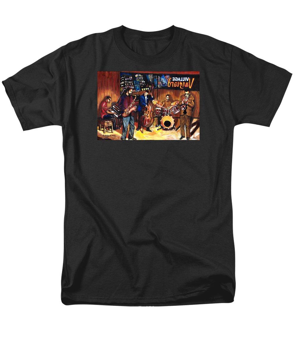 Everett Spruill Men's T-Shirt (Regular Fit) featuring the painting Village Vanguard by Everett Spruill