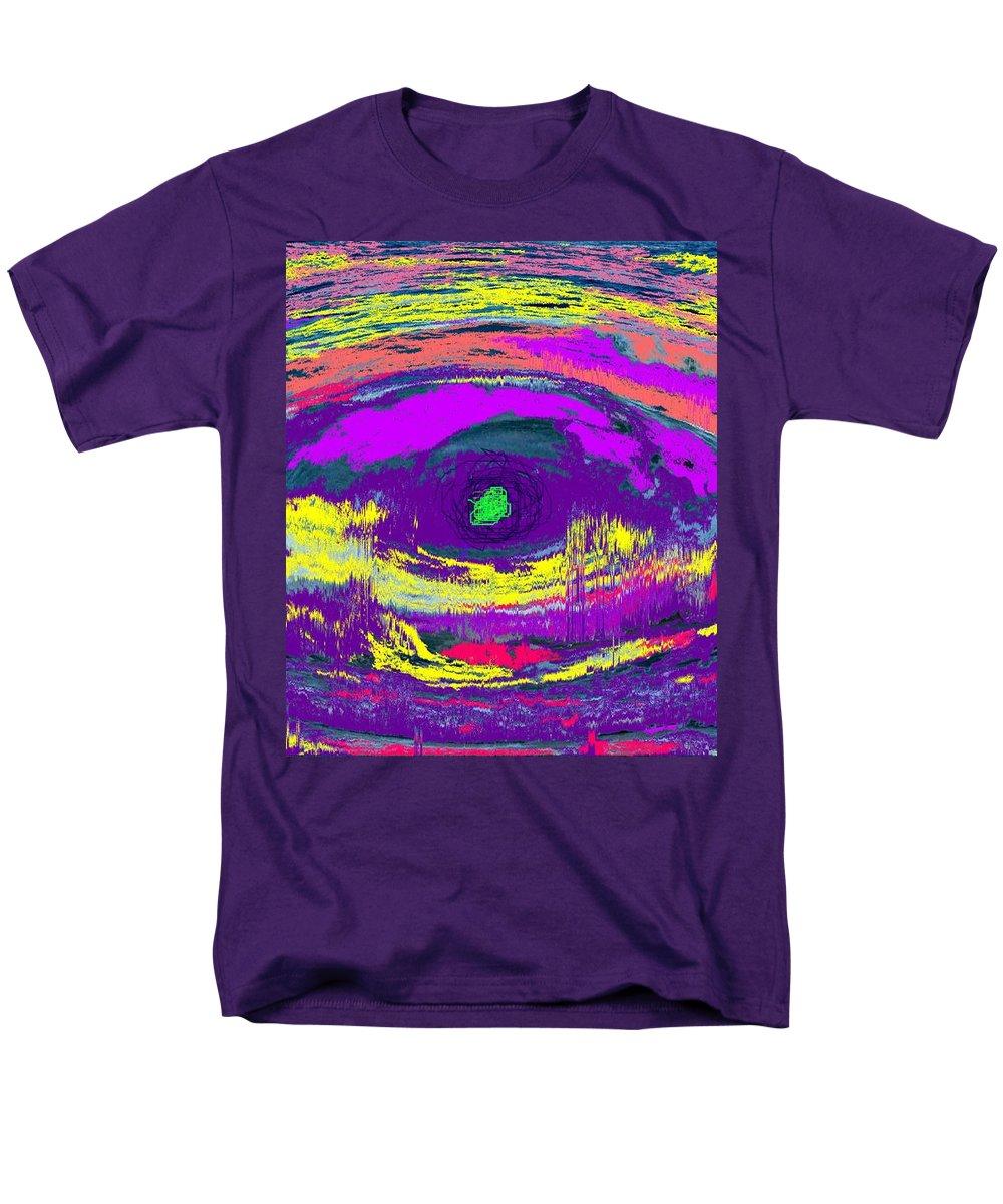 Abstract Men's T-Shirt (Regular Fit) featuring the digital art Crocodile Eye by Ian MacDonald
