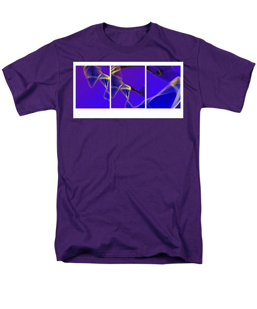 Abstract Men's T-Shirt (Regular Fit) featuring the digital art Movement In Blue by Steve Karol