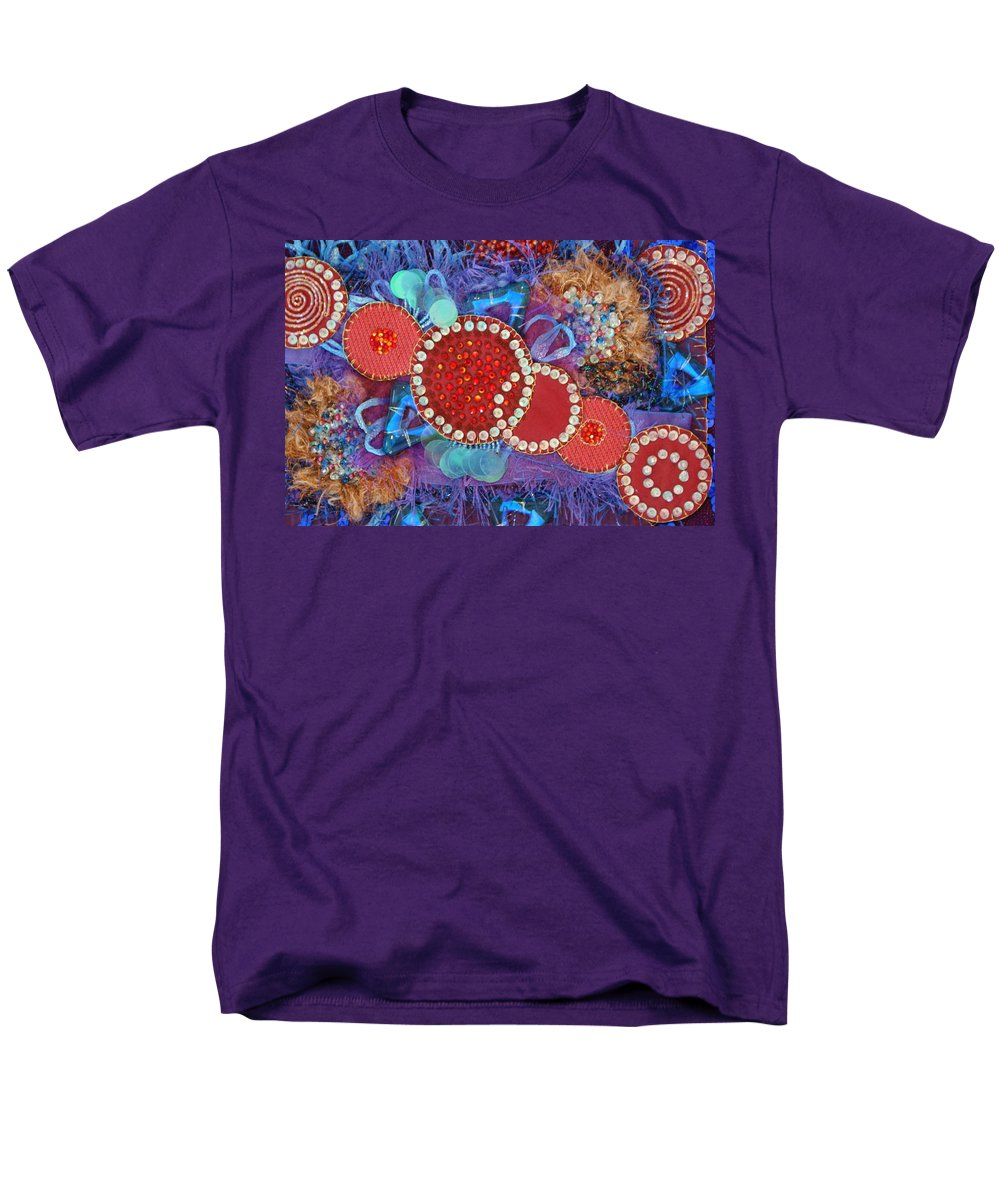 Men's T-Shirt (Regular Fit) featuring the mixed media Ruby Slippers 1 by Judy Henninger