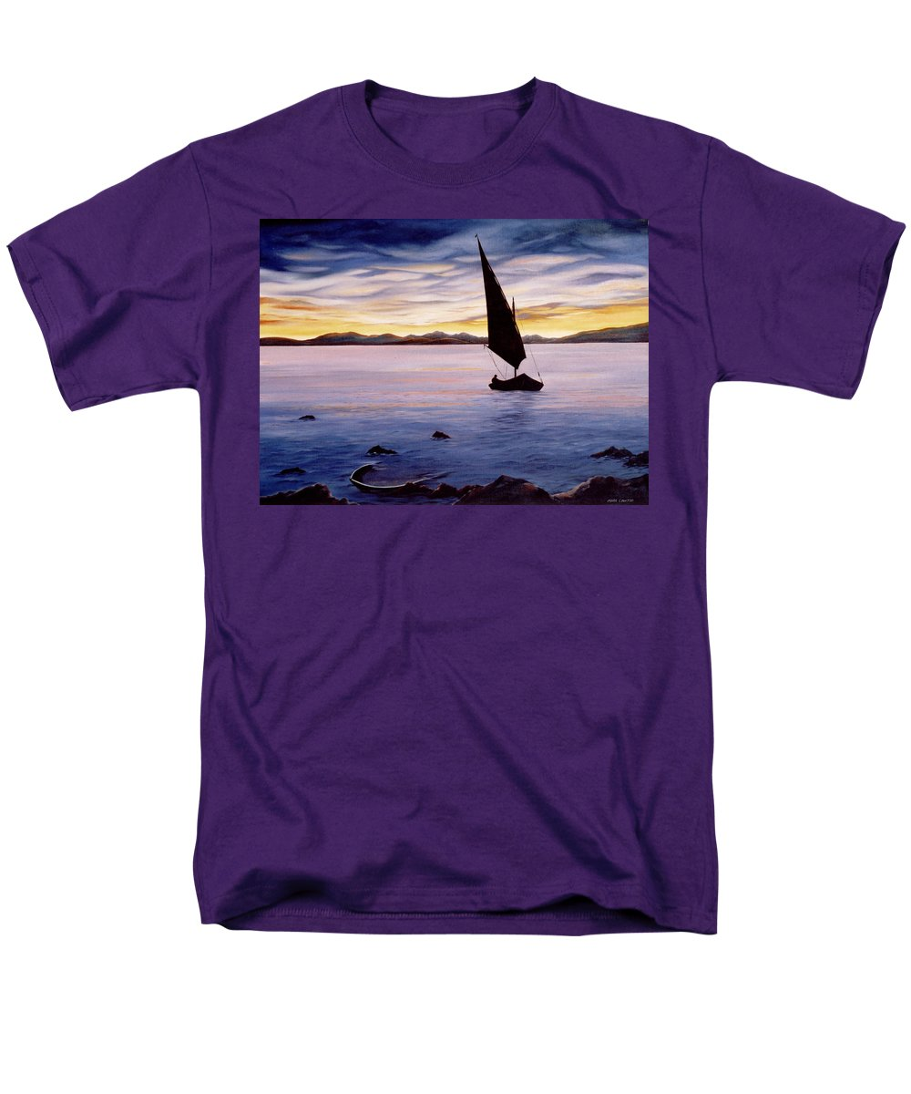 Seascape Men's T-Shirt (Regular Fit) featuring the painting Sea of Souls by Mark Cawood
