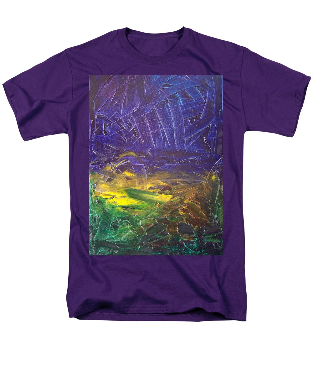 Painting Men's T-Shirt (Regular Fit) featuring the painting Forest. Part2 by Sergey Bezhinets