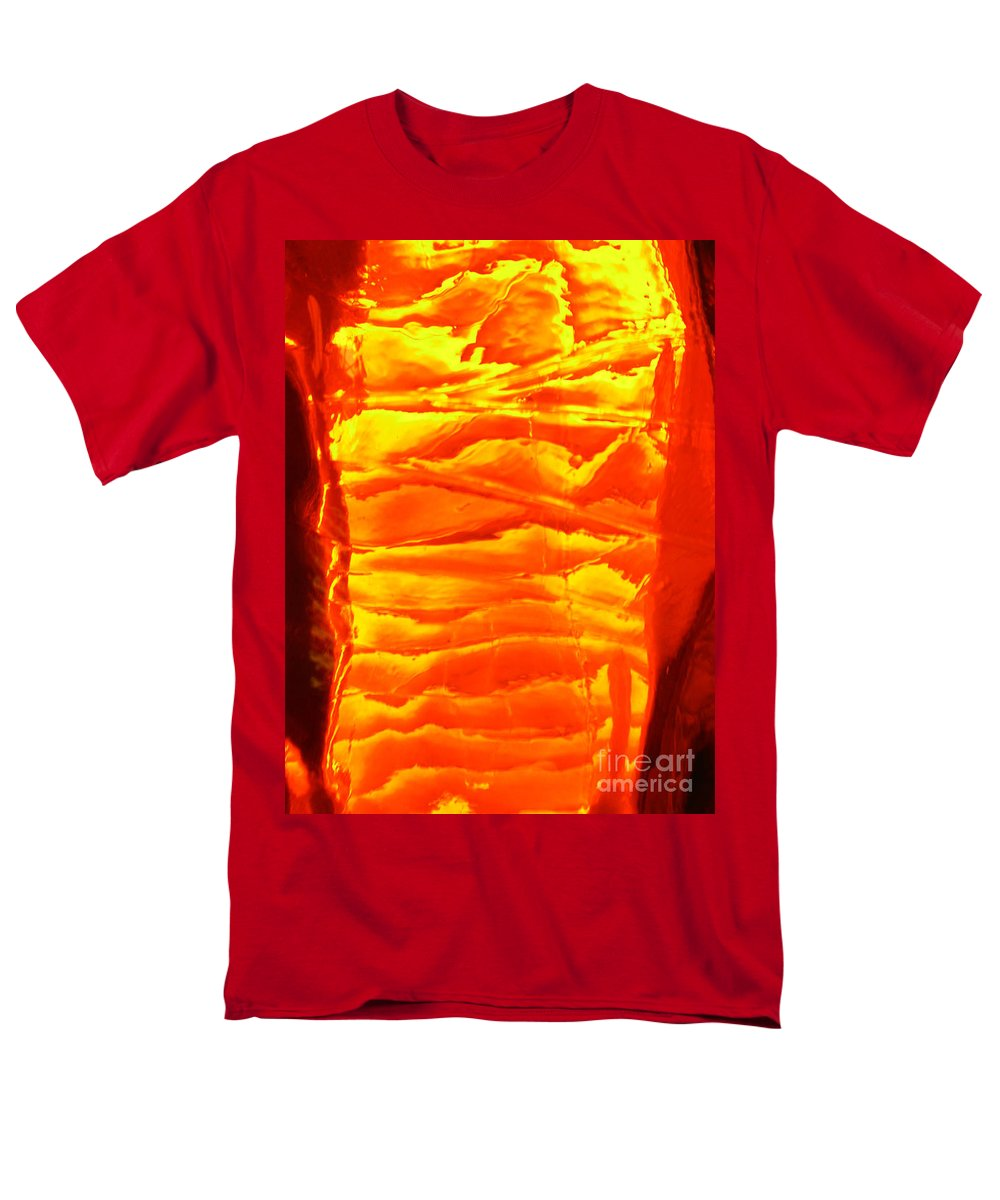 Orange Men's T-Shirt (Regular Fit) featuring the photograph Abstract Orange by Amanda Barcon