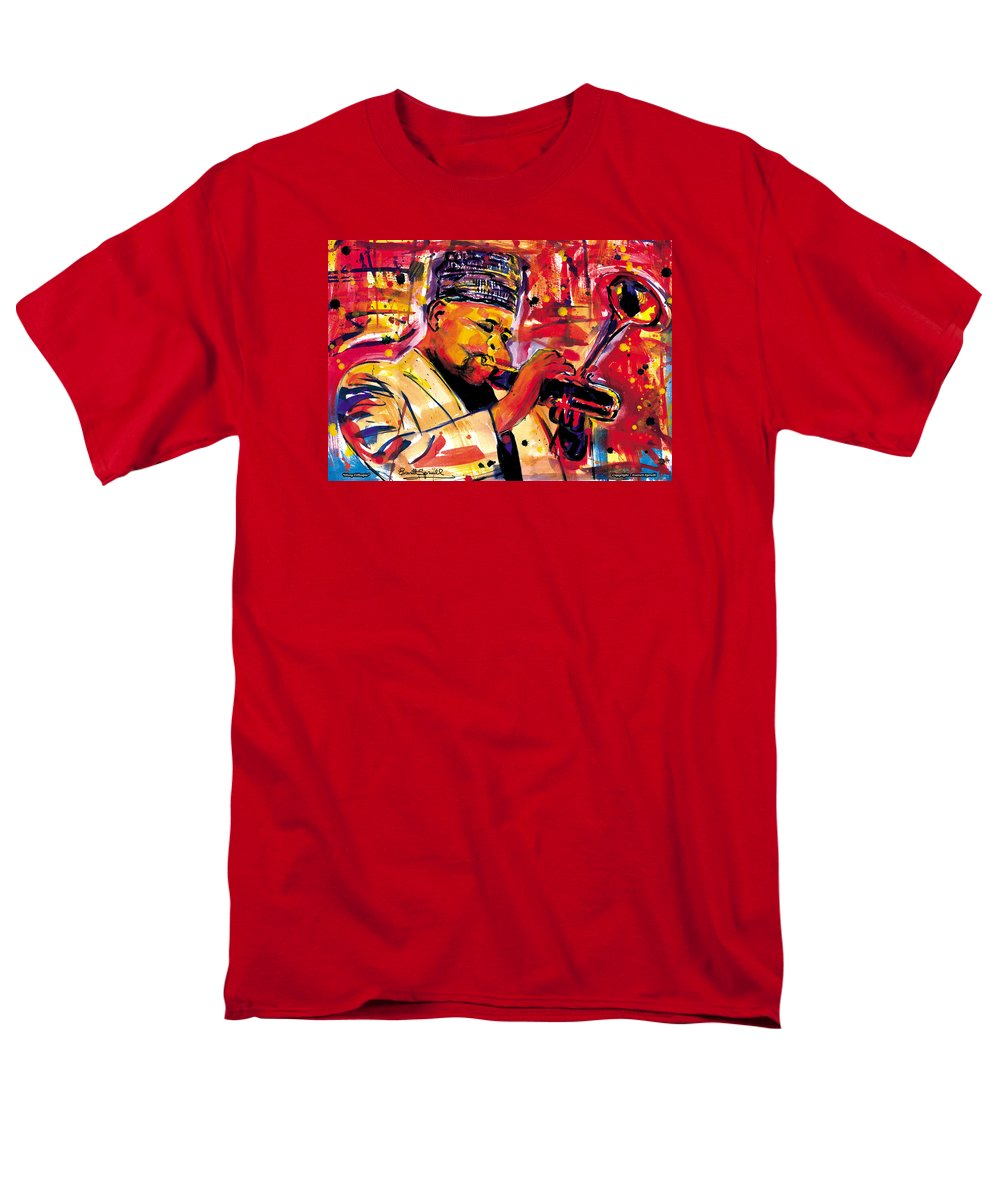 Dizzy Gillespie Men's T-Shirt (Regular Fit) featuring the painting Dizzy Gillespie by Everett Spruill