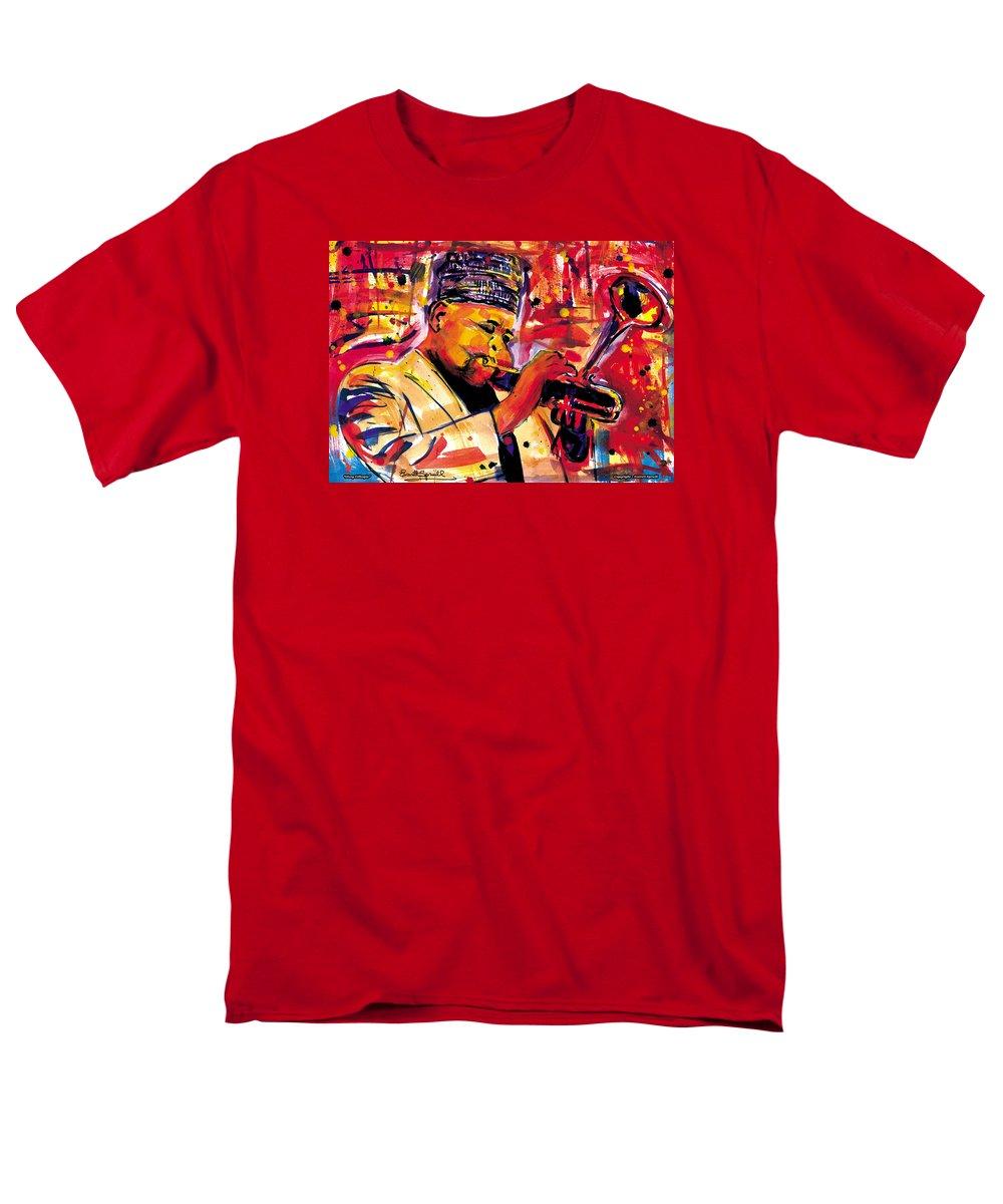 Dizzy Gillespie Men's T-Shirt (Regular Fit) featuring the painting Dizzy Gillespie by Everett Spruill